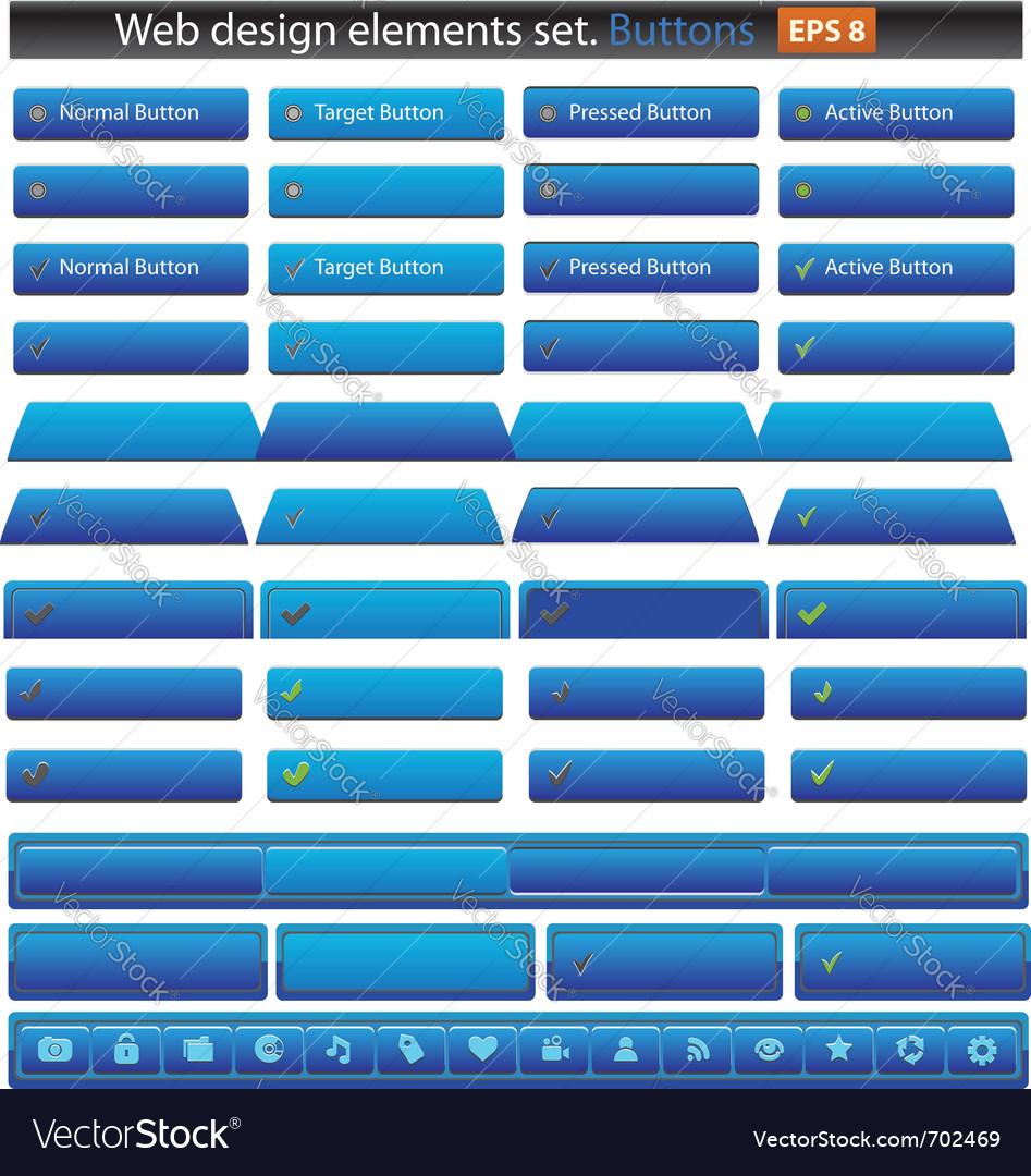 Web buttons set