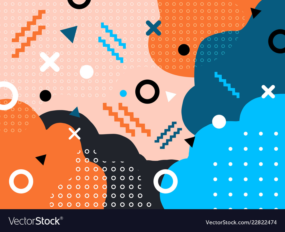 Abstract geometric form with line and dots
