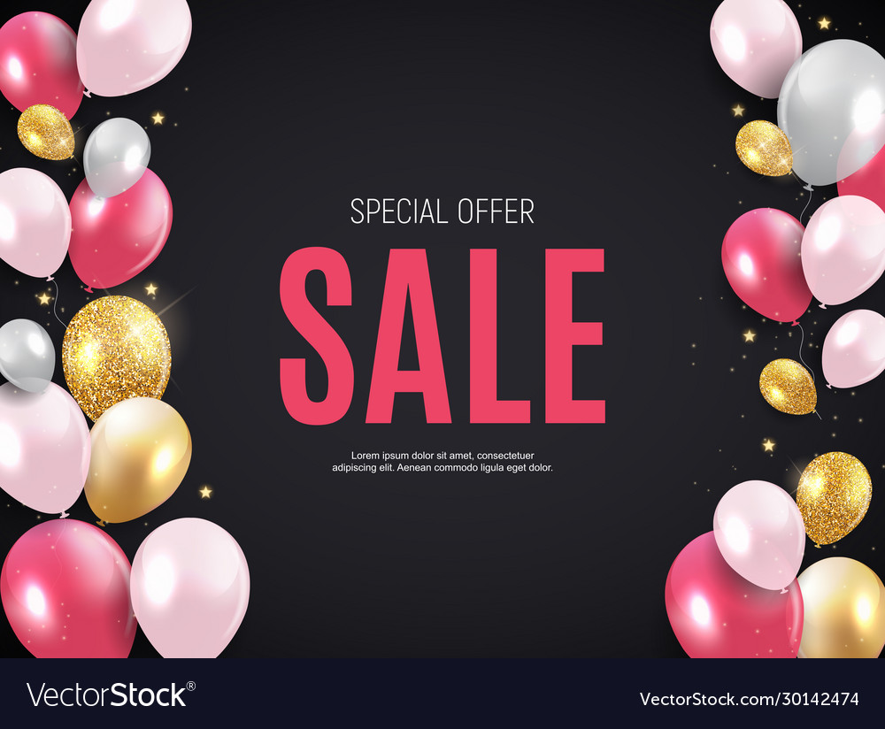 Abstract party sale background