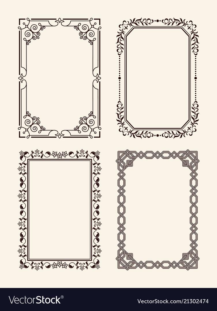 Antique ornate picture frames decor element