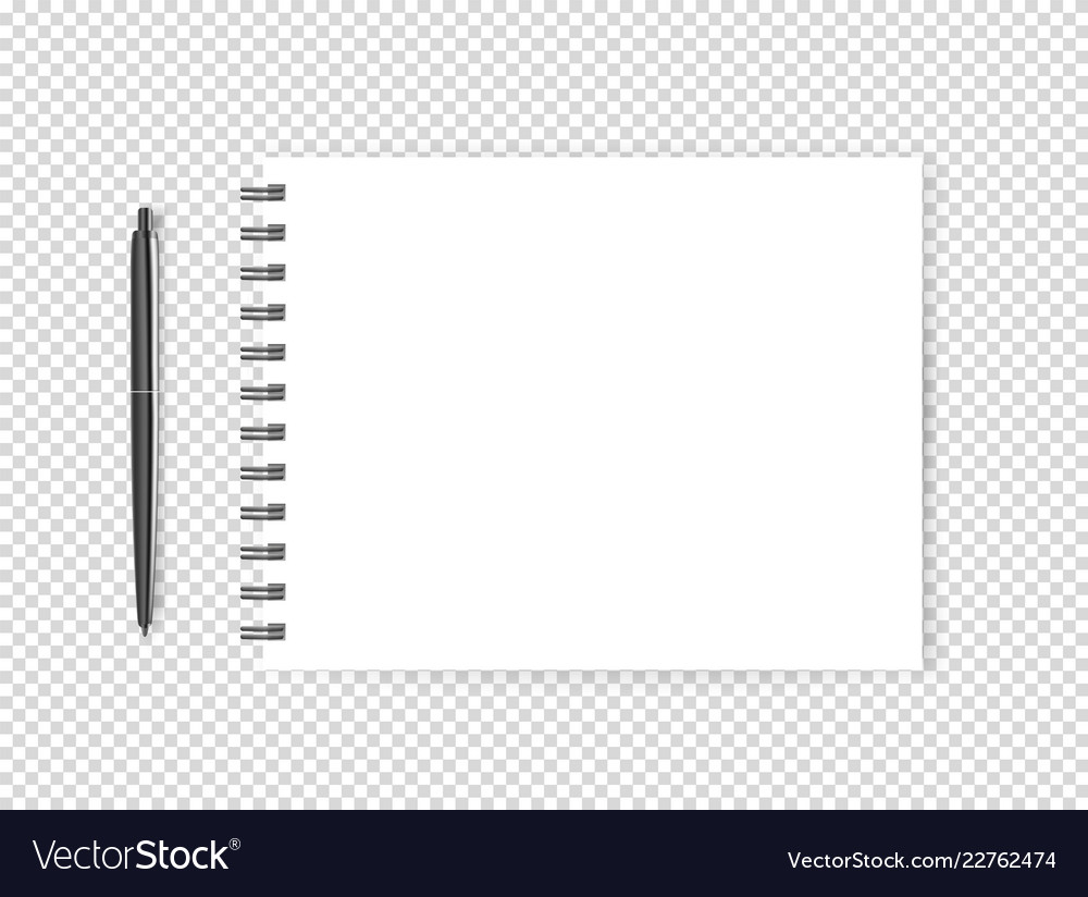 Blank page with a pen object isolated on