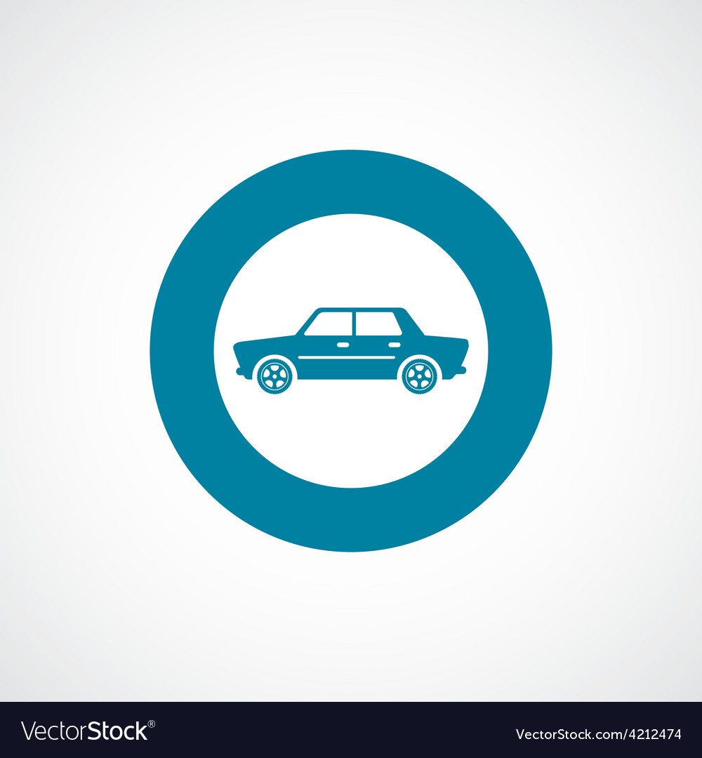 Car icon bold blue circle border
