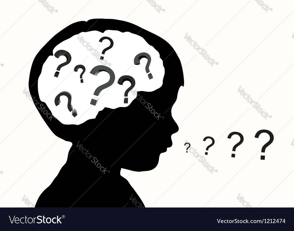 Childrens questions vector image