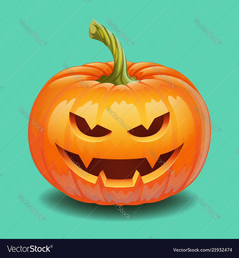 Halloween pumpkin face - evil smile jack o lantern