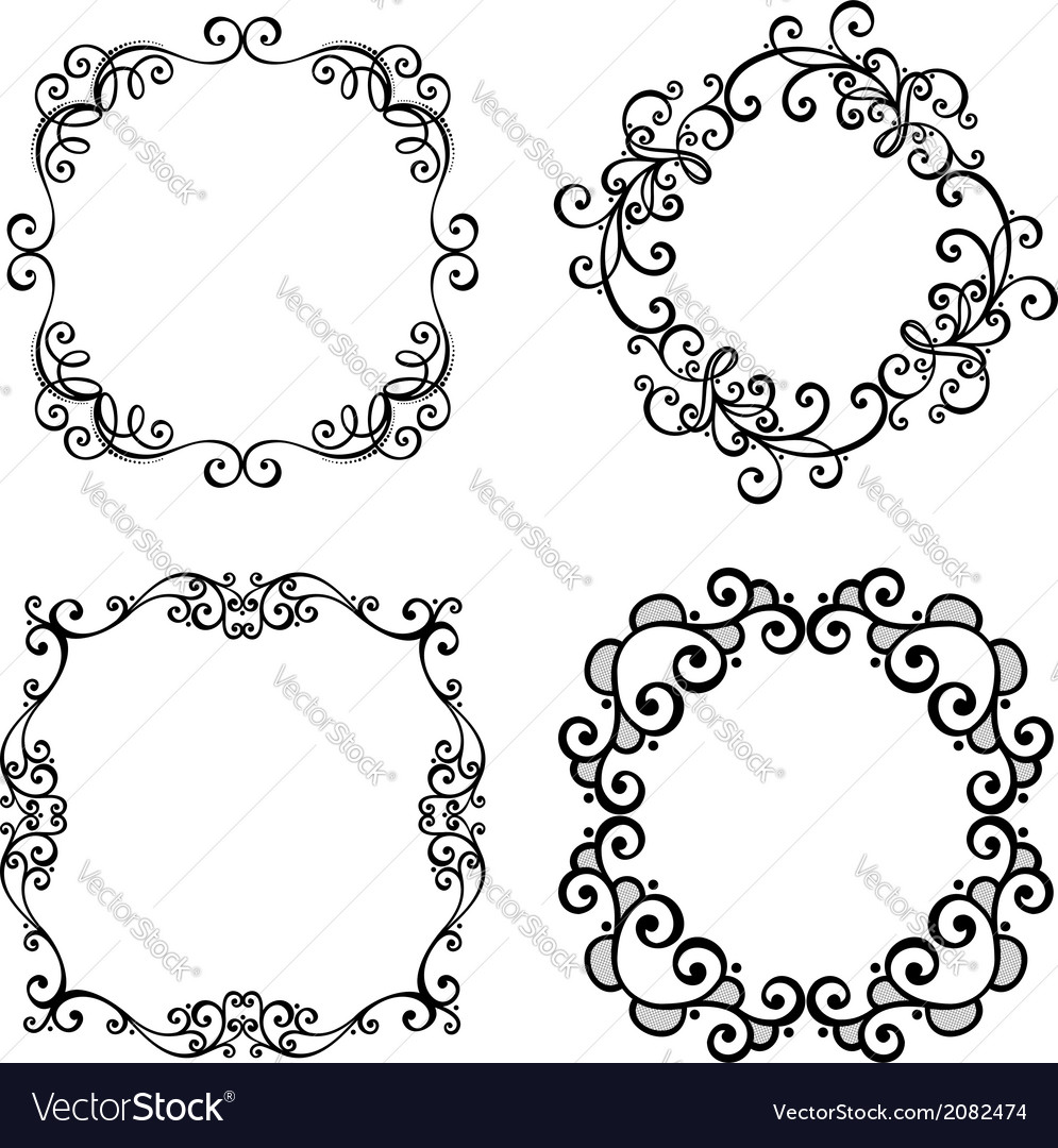 Set of Ornamental Frames for Text Royalty Free Vector Image