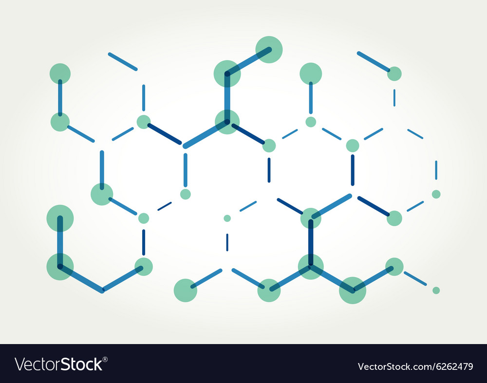 Abstract hexagons template
