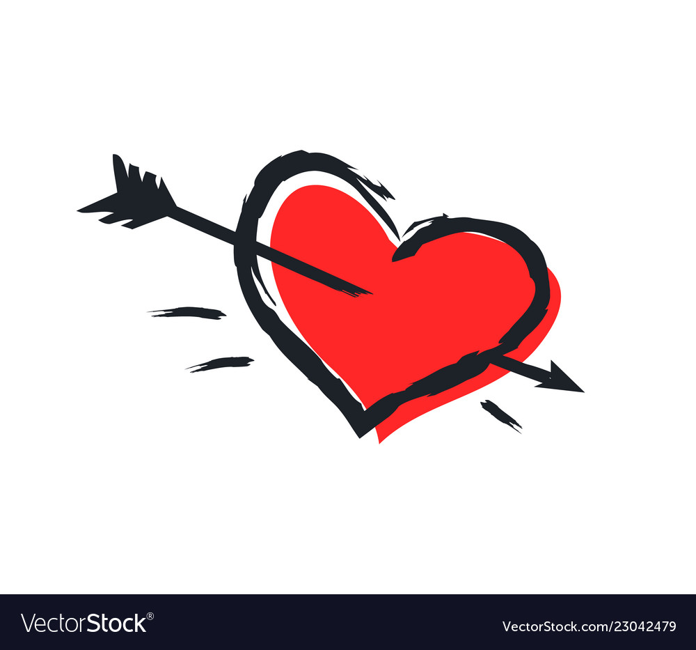 Heart icon isolated on white background color card