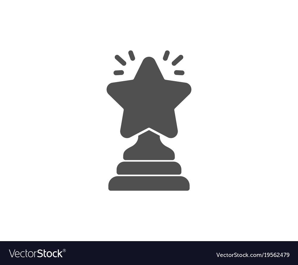 Rank star simple icon success reward