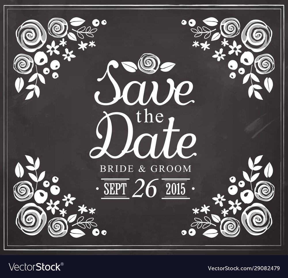 Save date wedding invitation vintage card