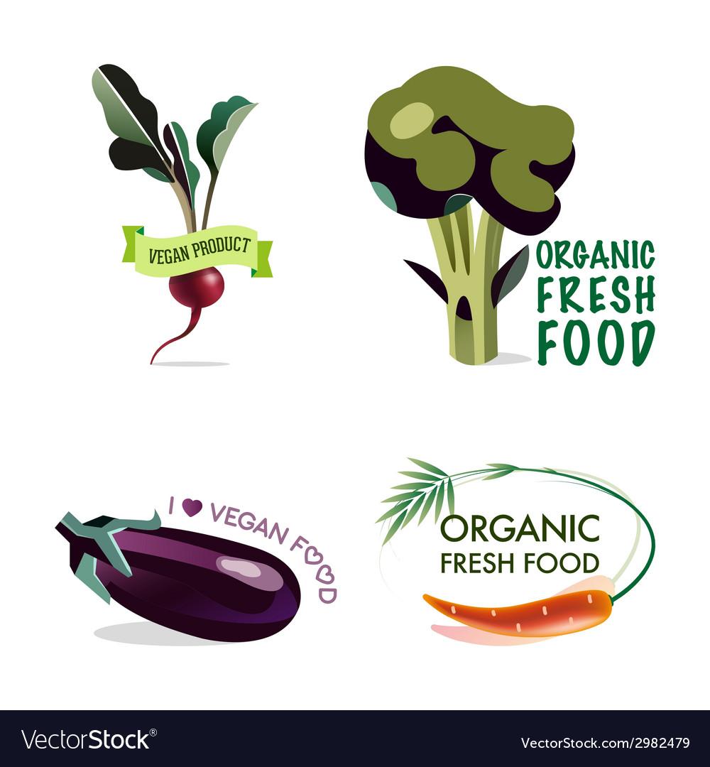 Vegan set of design elements