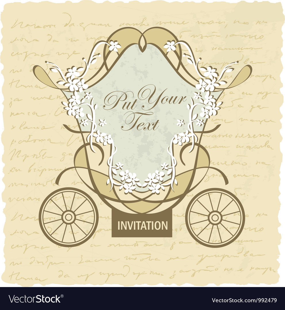 Vintage wedding invitation card royalty free vector image vintage wedding invitation card vector image stopboris Choice Image