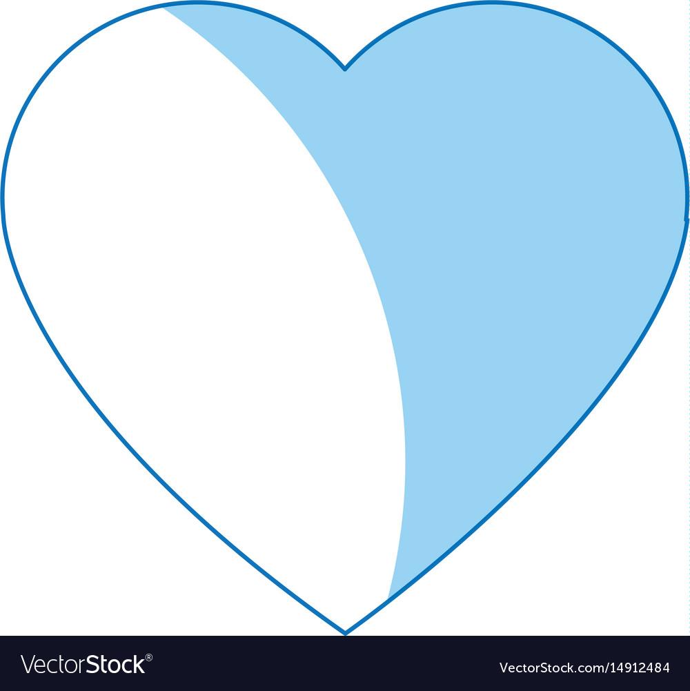 Cartoon heart love romantic symbol