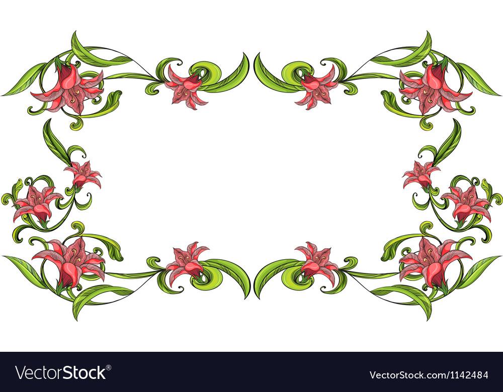 flowery border royalty free vector image vectorstock