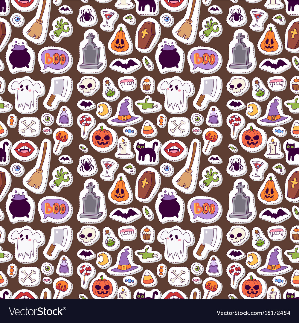 Halloween carnival seamless pattern background