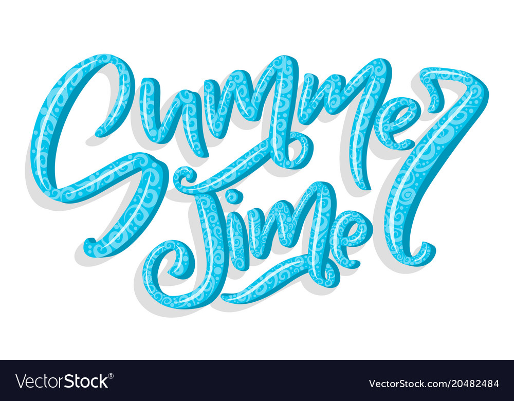 Hand drawn lettering - summer time