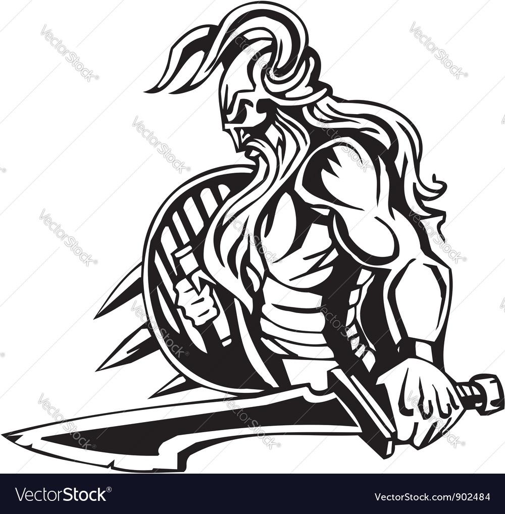 Nordic viking - Vinyl-ready vector image