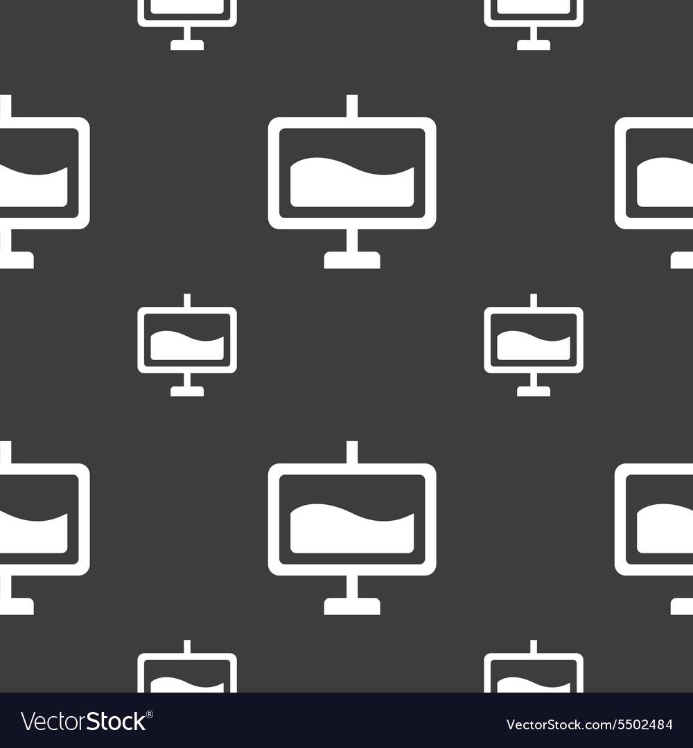 Presentation billboard icon sign Seamless pattern
