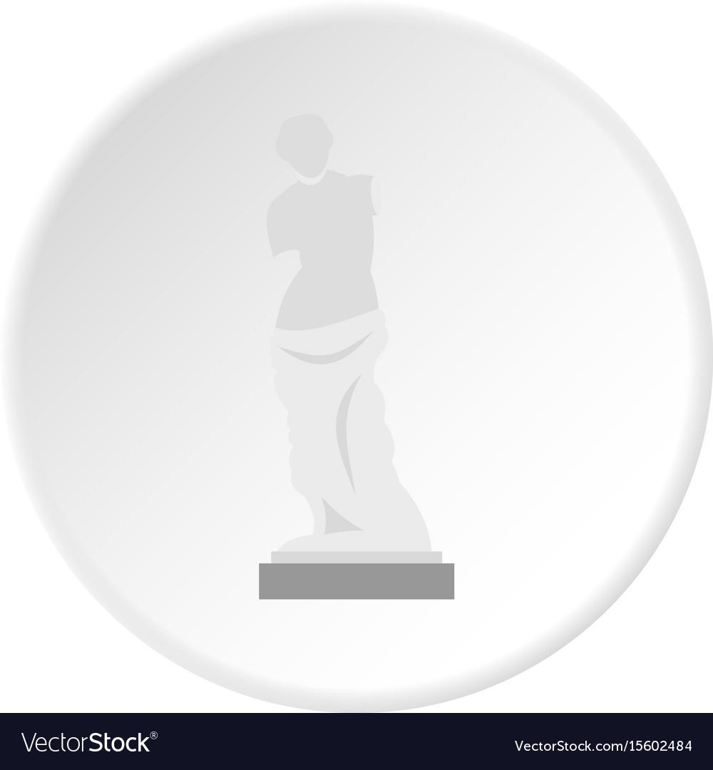 Statue of venus de milo icon circle vector image