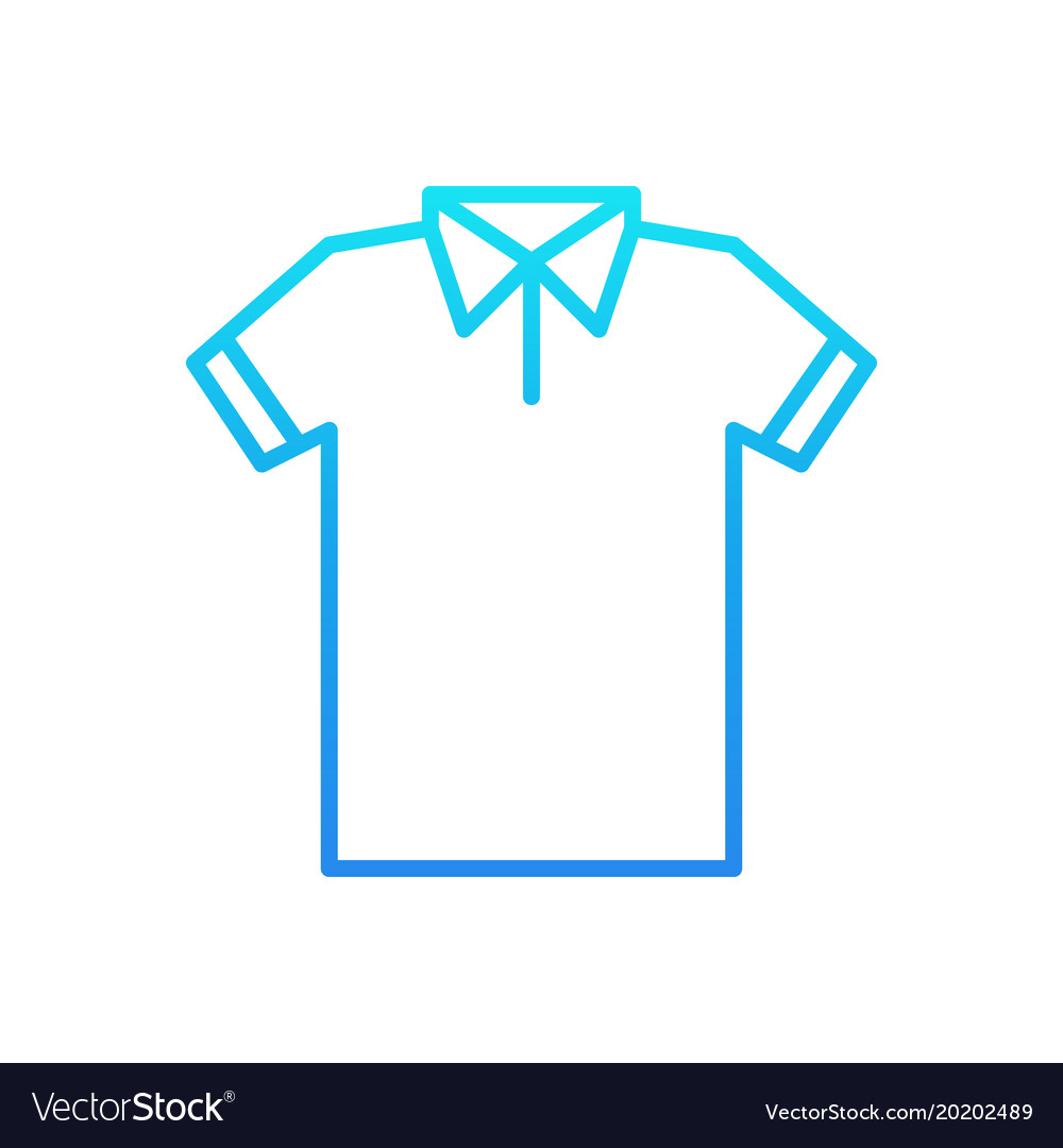 blue t shirt line icon tshirt outline royalty free vector rh vectorstock com t shirt outline vector image t shirt outline template vector
