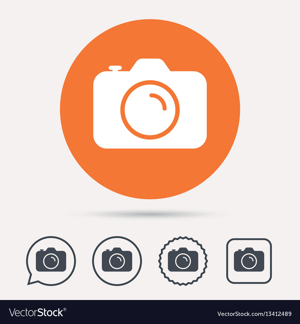 Camera icon professional photocamera sign