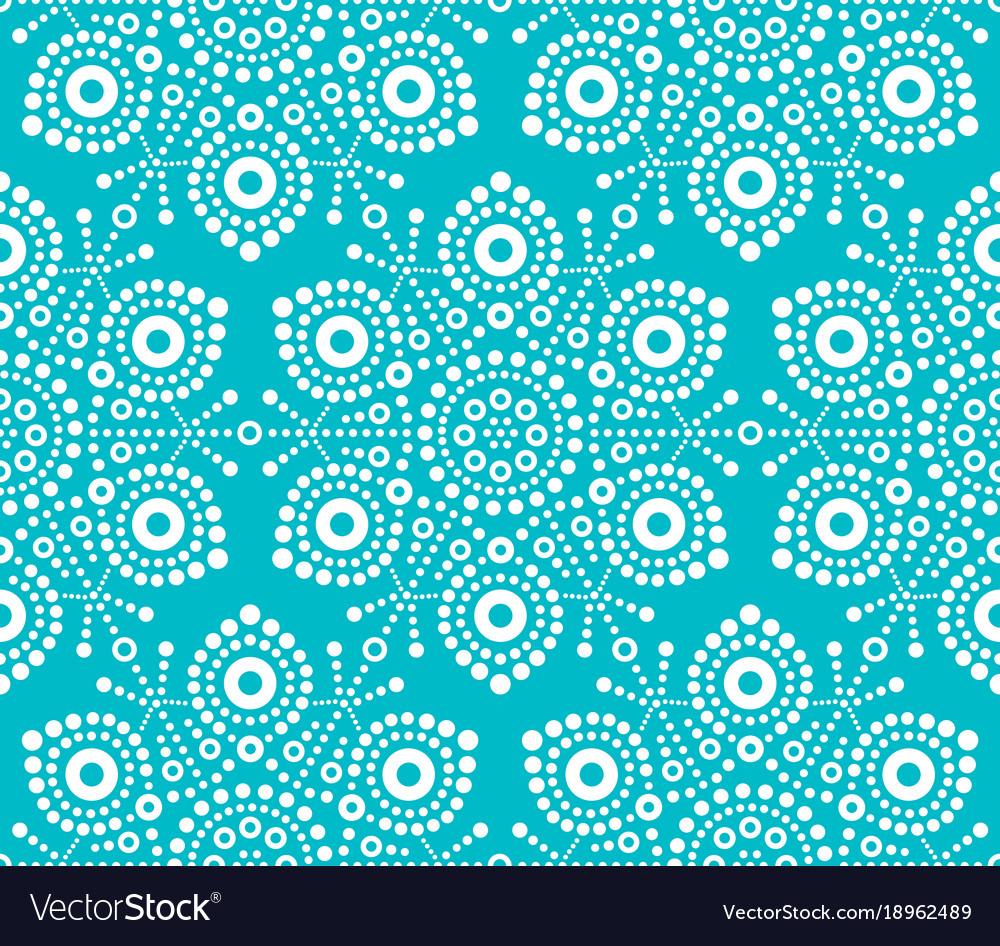 Christmas white snowflake seamless pattern