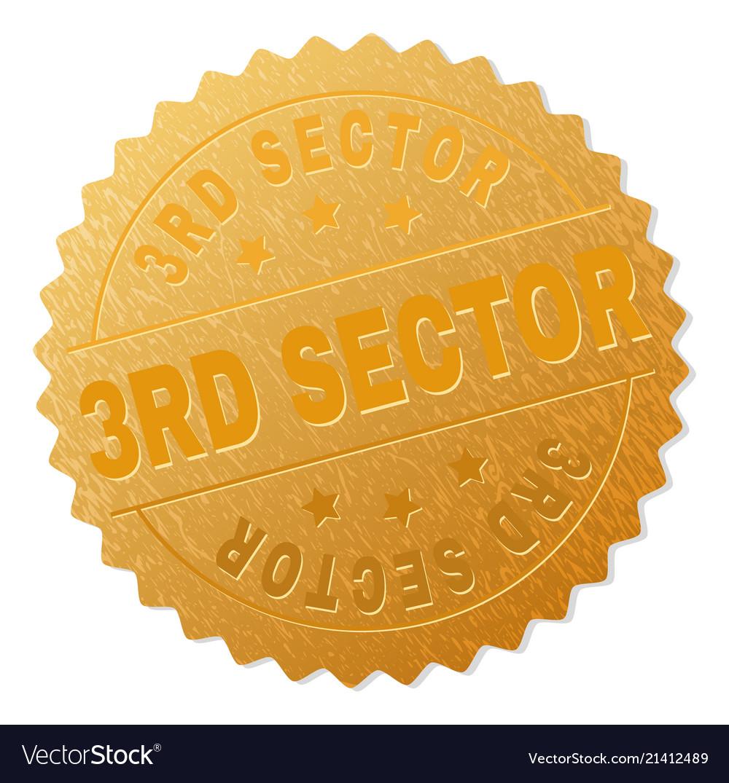 Gold 3rd sector medal stamp