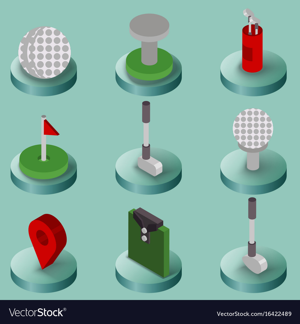 Golf flat isometric set