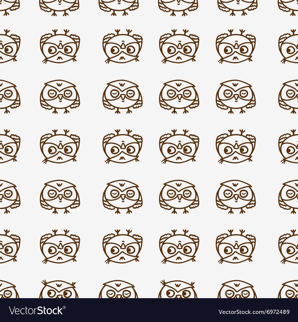 Owls seamless pattern 1