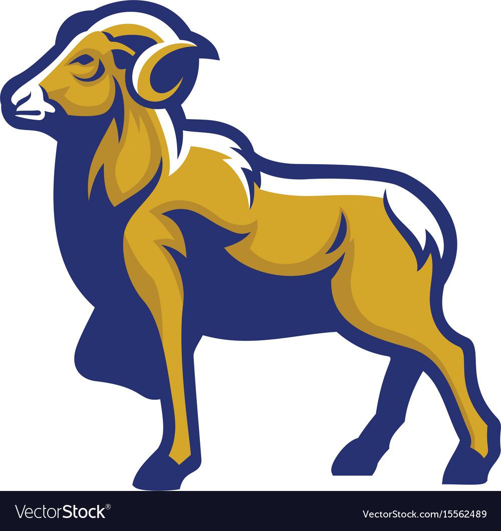 Ram goat mascot