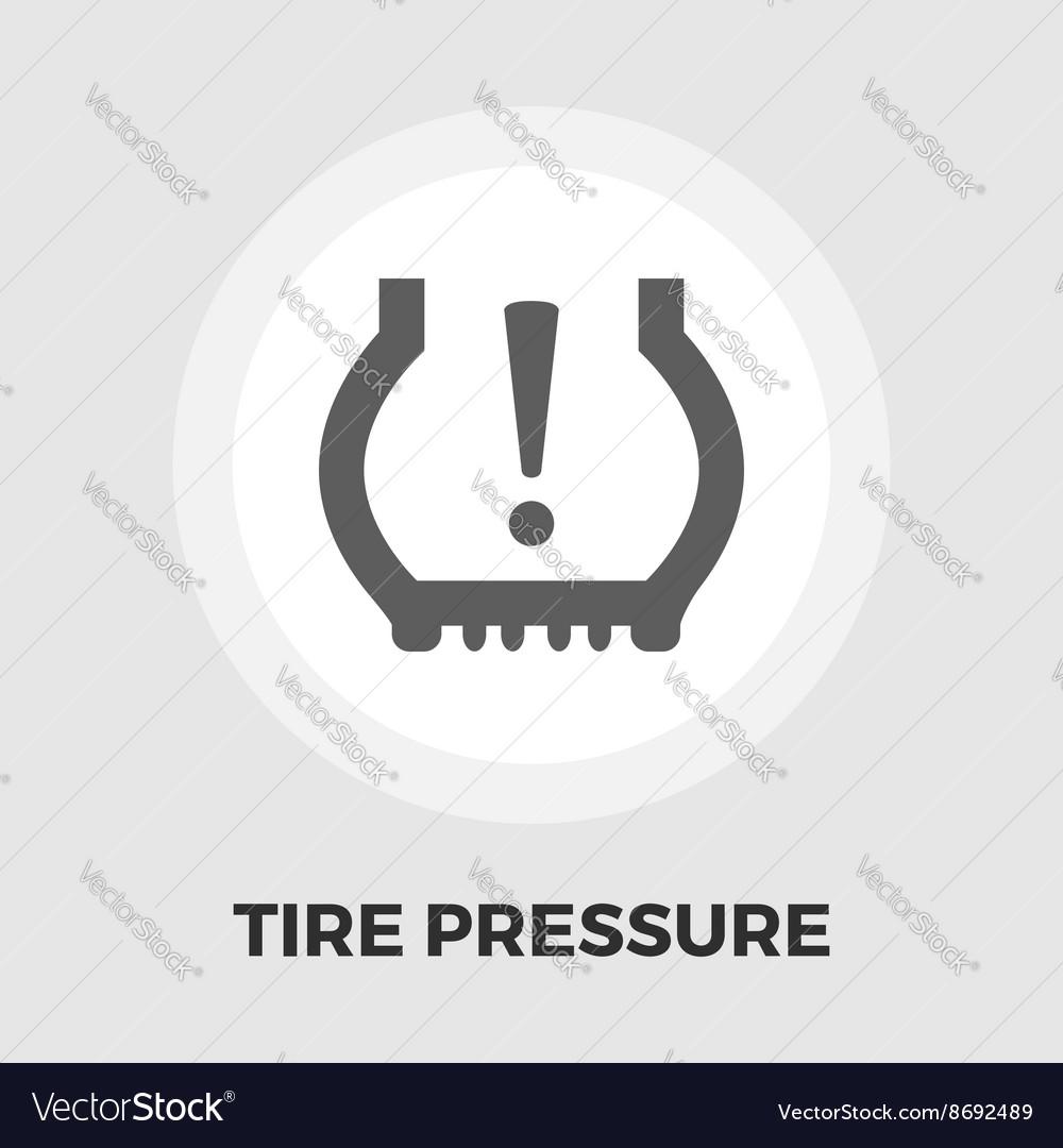 Tire Pressure icon flat