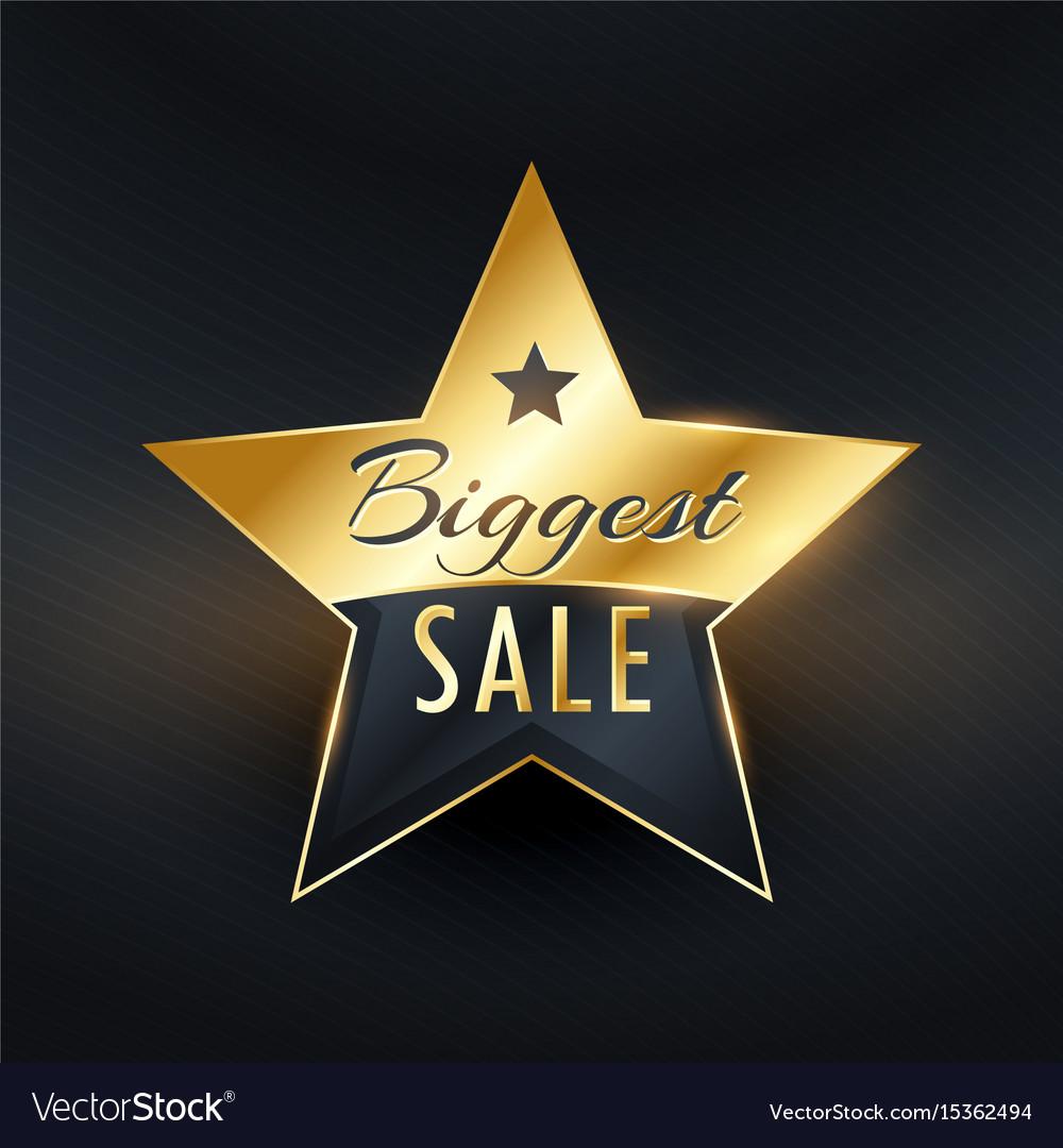 Biggest sale star label badge design