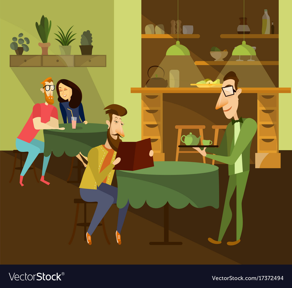 Cafe concept vector image