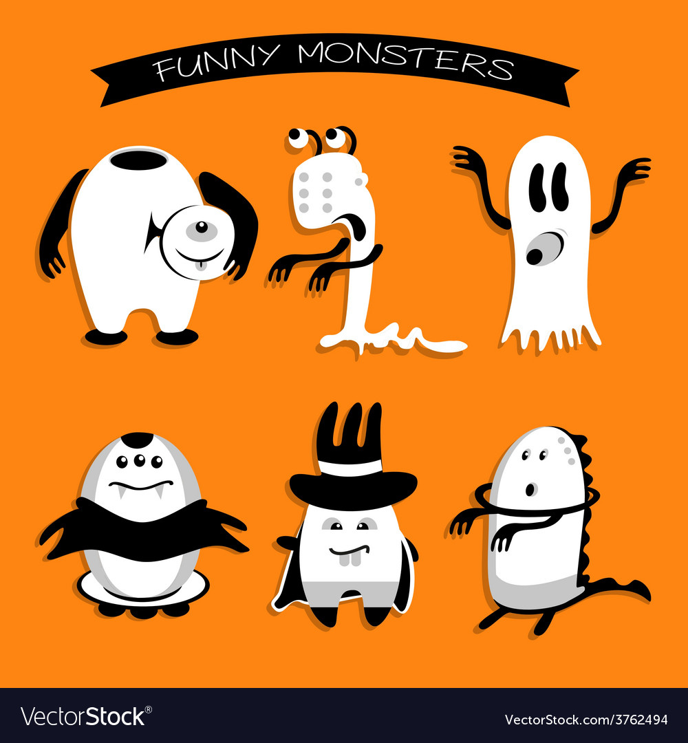 Cartoon funny monsters for Halloween holiday