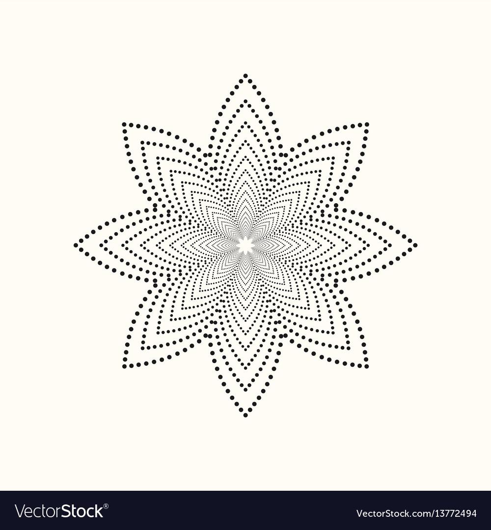 Dotted geometric shape