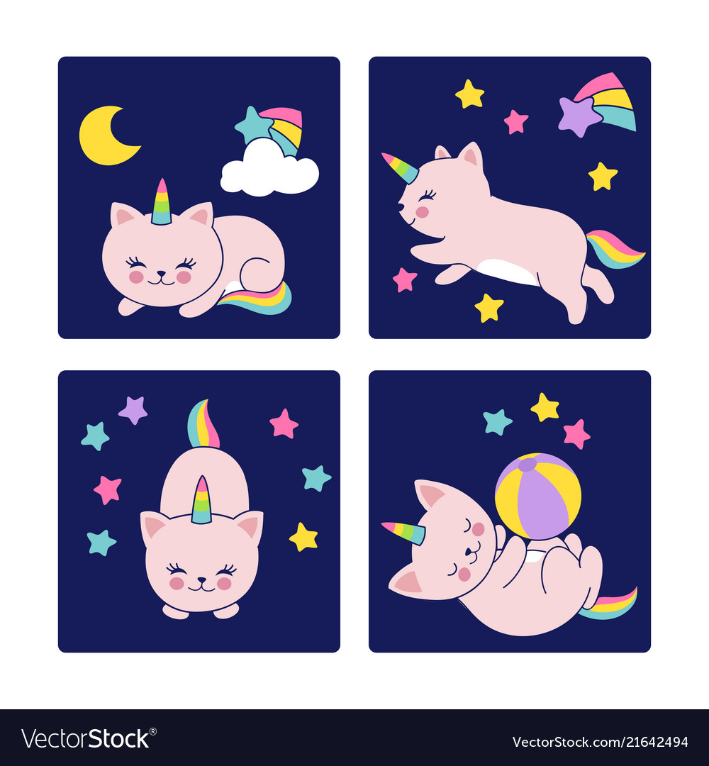 Good night cards with sleeping cats