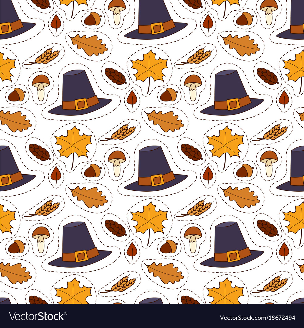 Happy thanksgiving day hats design holiday vector image