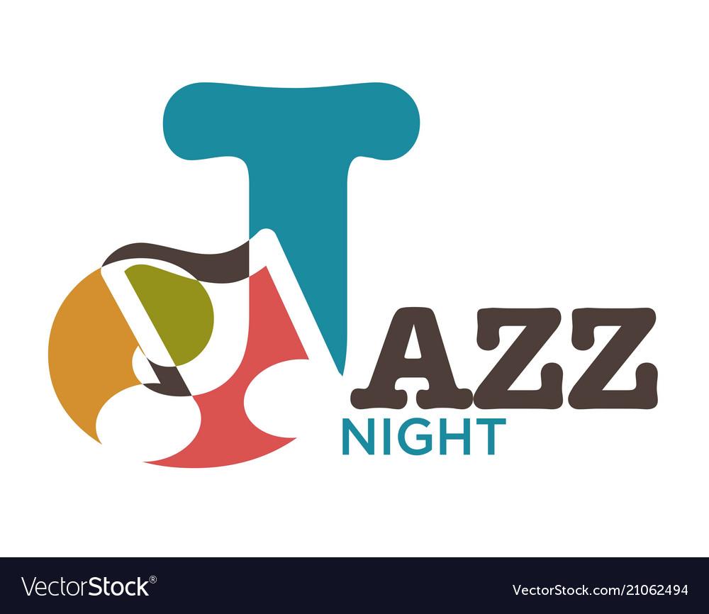 Jazz night musical art poster