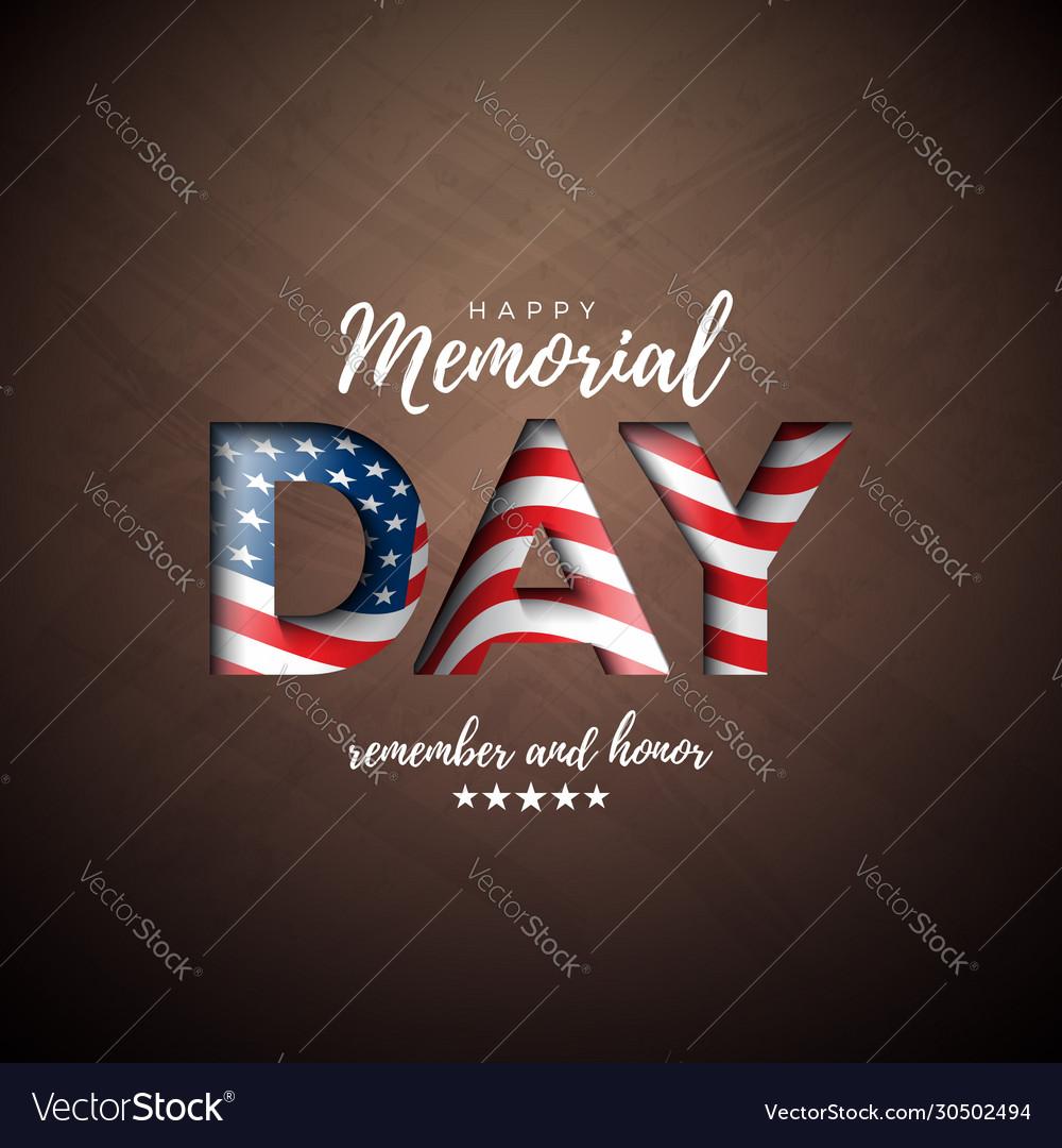Memorial day usa design template