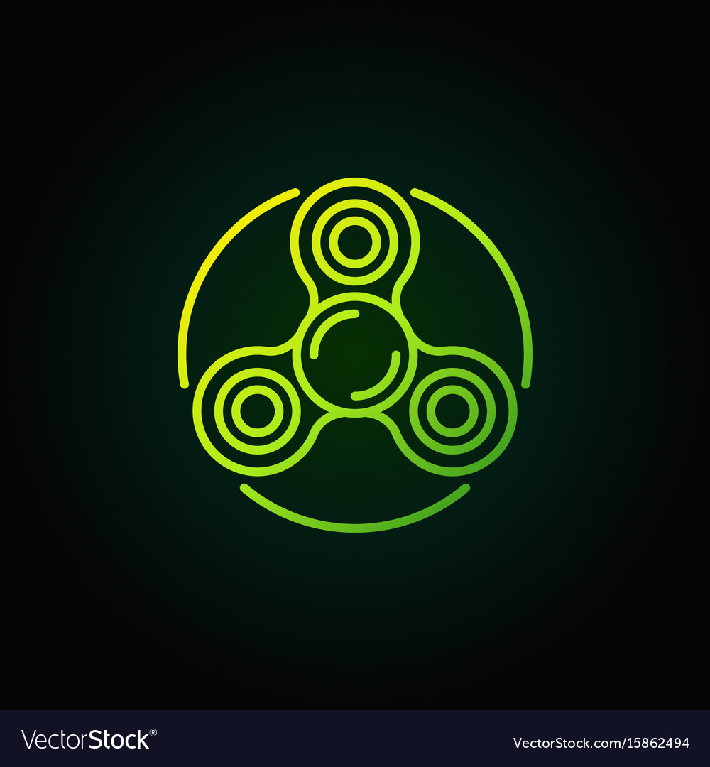 Spinner green line icon