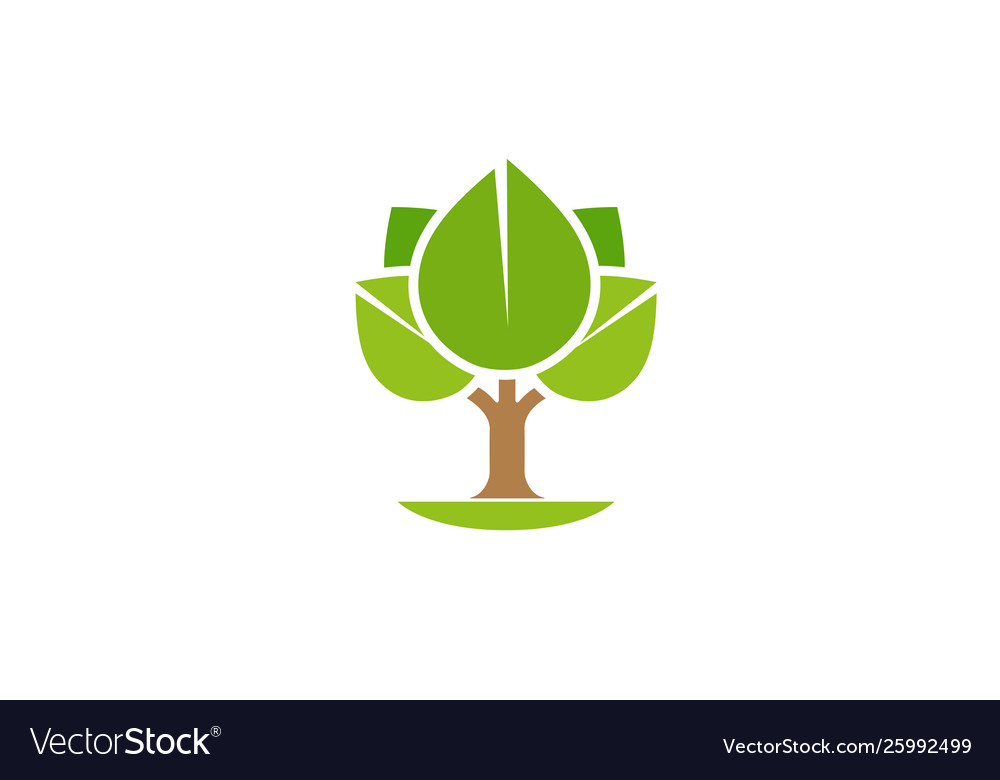 Creative abstract tree logo design symbol