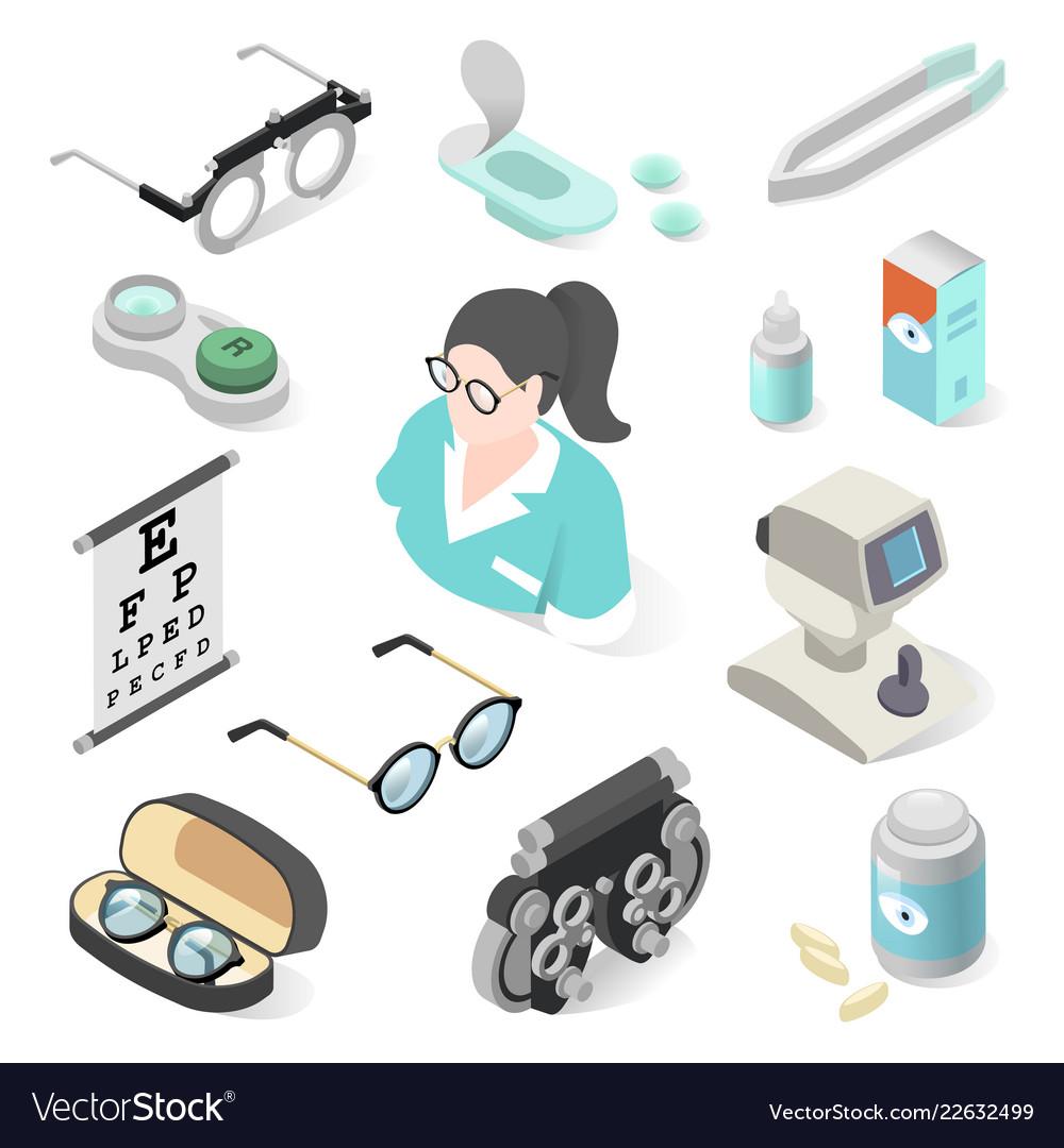 Eye examination professional equipment and