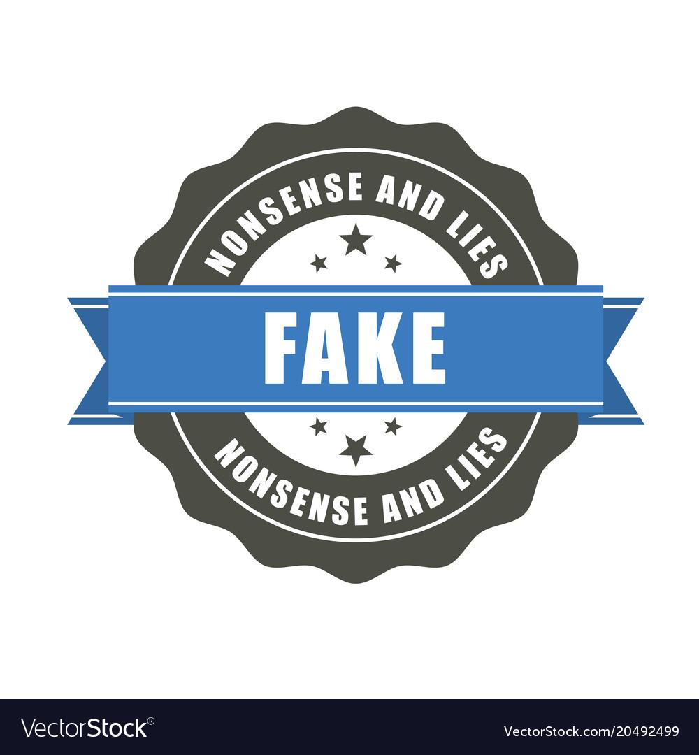 Fake badge - sticker with inscription fake