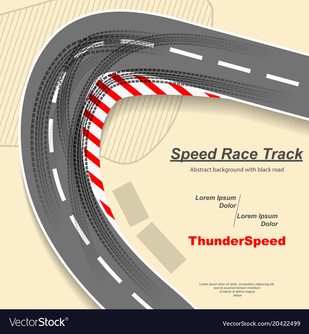 Road with tire tracks vector image
