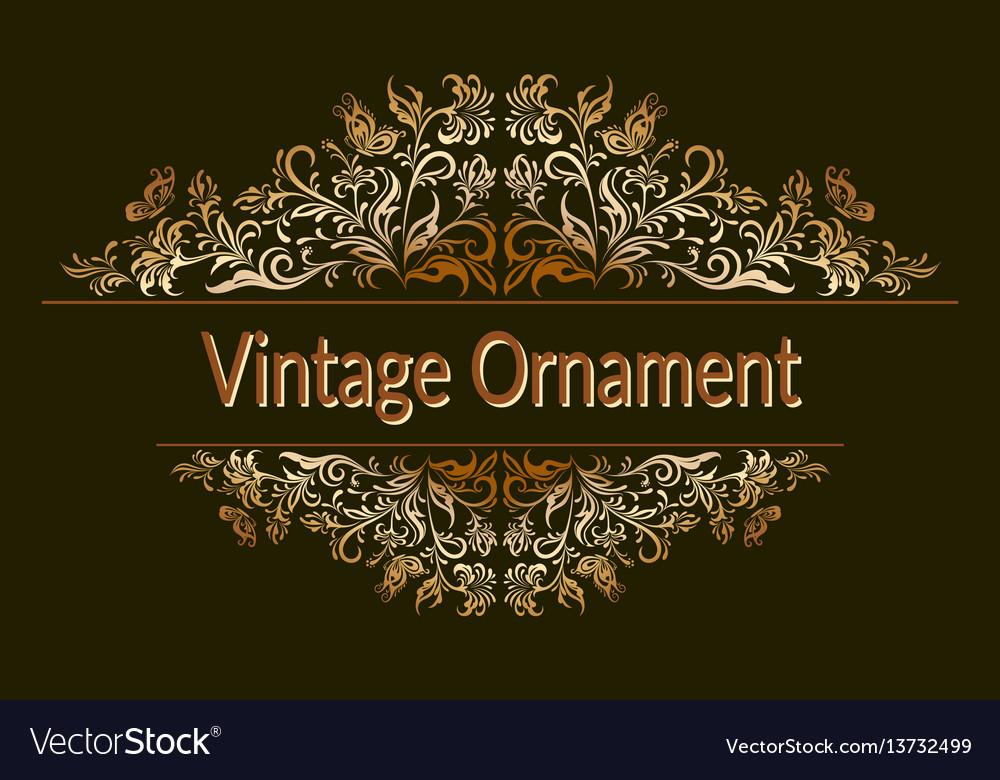 Vintage floral ornament