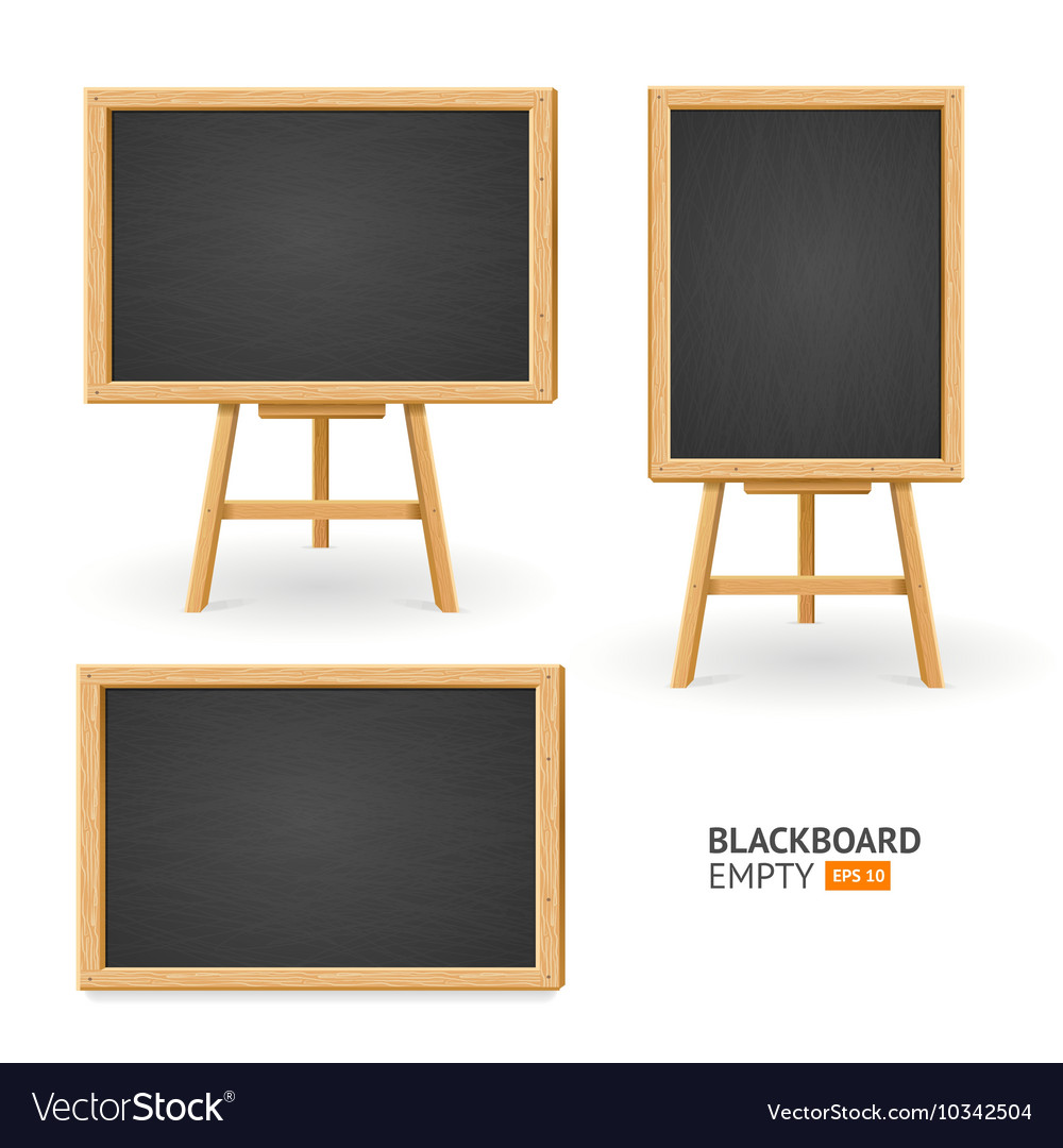 Black Board Set Different View