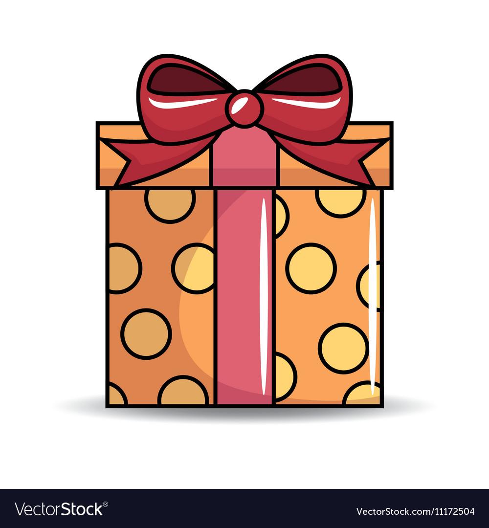 gift birthday present icon royalty free vector image
