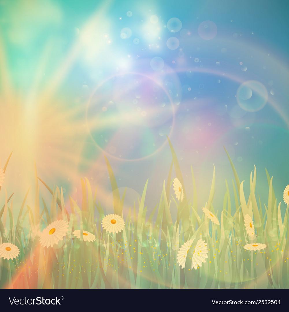 Nature spring or summer Vintage style background