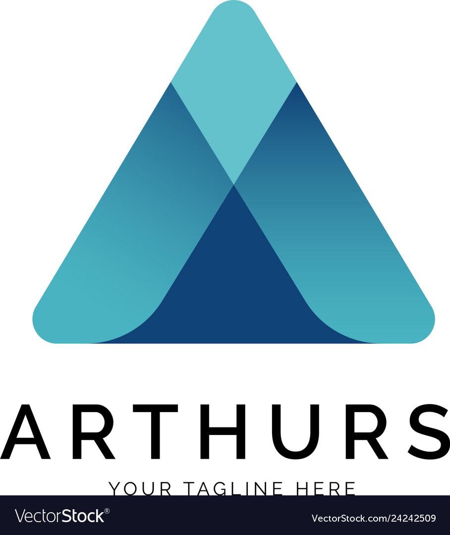 A letter logo concept creative minimal design
