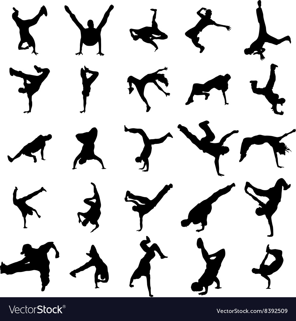 Dancing silhouettes set
