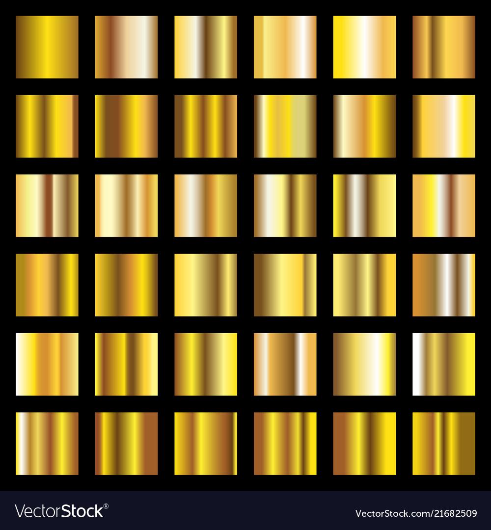 Gold gradient golden metal squares